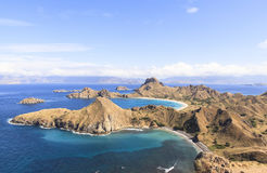 ÎLE de PADAR, parc national de Komodo, Indonésie photographie stock libre de droits
