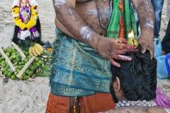 ÎLE de PANGKOR, MALAISIE - 17 février 2011 festival de Masi Magam photos stock