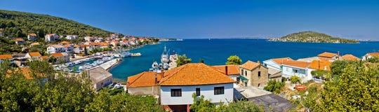 Île de panorama coloré d'Ugljan Photographie stock libre de droits