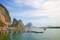 Île de Panyi aux sud de la Thaïlande Photographie stock