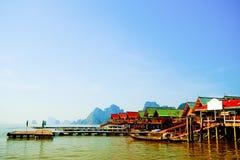 Île de Panyi aux sud de la Thaïlande Images stock