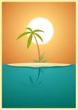 Île de paradis illustration de vecteur