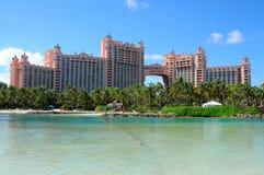 Île de paradis de l'Atlantide, Bahamas Photo stock