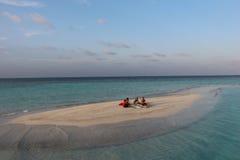 Île de paradis sur les Maldives Image libre de droits
