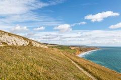 Île de paysage côtier de Wight image libre de droits