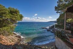 Île de paysage de Hvar Photo stock