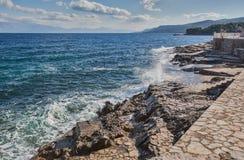Île de paysage de Hvar Photos stock