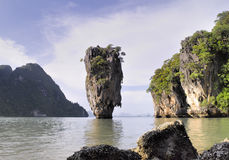 Île de Phang Nga - de James Bond Photographie stock