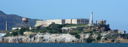 île de plan rapproché d'alcatraz Photos libres de droits
