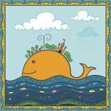 Île de poissons Photo libre de droits