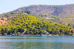 Île de Poros, Grèce photographie stock libre de droits