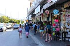 Île de Poros, Grèce Photo stock
