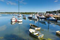 Île de port de Bembridge St Helens de Wight Photographie stock