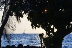 Île de port de Kawahae grande, Hawaï Image stock