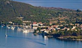 Île de port nautique d'Ilovik Photographie stock
