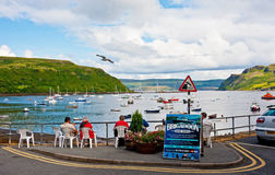Île de Portree de Skye Photographie stock
