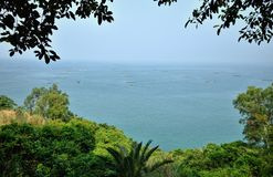 Île de poulet près de Maoming dans la province du Guangdong en Chine Photographie stock