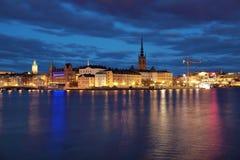 Île de Riddarholmen et Gamla Stan à Stockholm images libres de droits