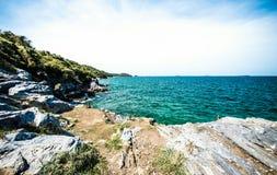 Île de roche Photos stock