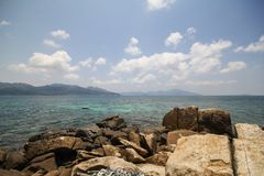 Île de Rok Roy, Koh Rok Roy, Satun, Thaïlande Photos stock
