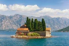 Île de saint George montenegro Images stock