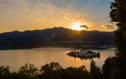 Île de San Giulio Photographie stock libre de droits