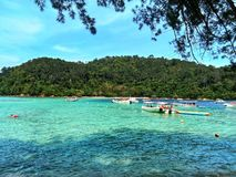 Île de Sapi, Sabah Malaysia photographie stock libre de droits