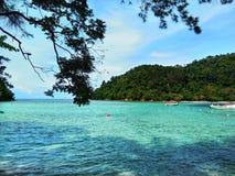 Île de Sapi, Sabah Malaysia photo libre de droits