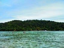 Île de Sapi, Sabah Malaysia images libres de droits
