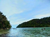 Île de Sapi, Sabah Malaysia photographie stock