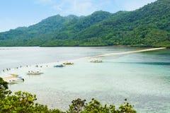 Île de serpent, EL Nido, Philippines Images libres de droits