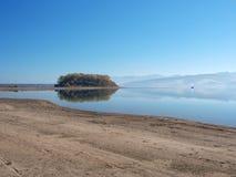 Île de Slanica tôt le matin Photos stock