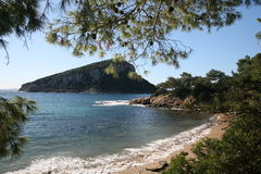 Île de Smeralda Figarolo de côte de Sardegna Photos libres de droits