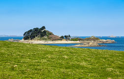 Île de Sterec - la Bretagne, France Photographie stock