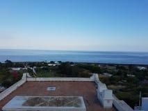 Île de Stromboli dans les ombres du volcan images stock