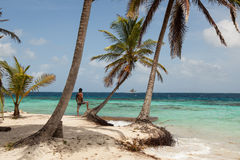 Île de Sunblas au Panama images stock