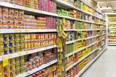 Île de supermarché photo stock