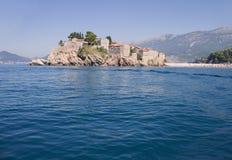 Île de Sveti Stefan Photos libres de droits