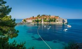 Île de Sveti Stefan Photos stock