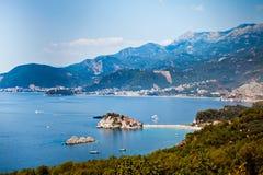 Île de Sveti Stefan au Monténégro photo libre de droits