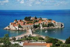 Île de Sveti Stefan, Monténégro Photographie stock libre de droits