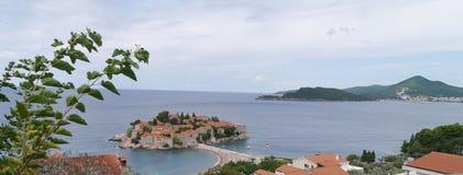 Île de Sveti Stefan, Monténégro Photos libres de droits