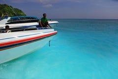 Île de Tachai, au sud de la Thaïlande Photo stock