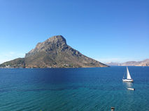 Île de Taledos, montagnes, Grèce, Images stock