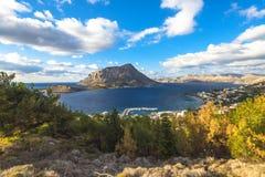 Île de Telendos, île de Kalymnos Images libres de droits