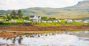 Île de terrain de camping de Kinloch de Skye Photos libres de droits