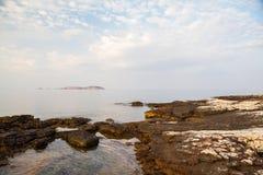 Île de Thassos - plage d'AMOs de Psili Images libres de droits