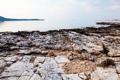Île de Thassos - plage d'AMOs de Psili Photographie stock