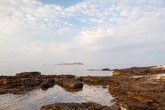 Île de Thassos - plage d'AMOs de Psili Photo libre de droits