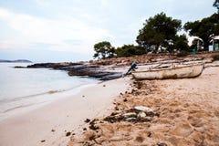Île de Thassos - plage d'AMOs de Psili Photos libres de droits